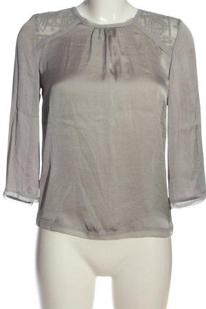 Hallhuber Glanzende blouse lichtgrijs zakelijke stijl