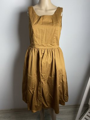 hallhuber gr 34 damen herbst sommer kleid braun gebraucht neuwertig