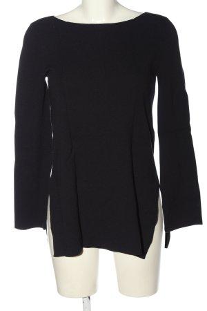 Hallhuber Sweter z grubej dzianiny czarny W stylu casual