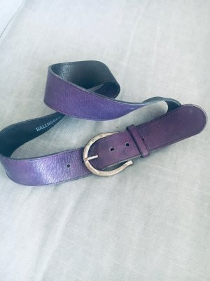 Hallhuber Cintura di pelle multicolore