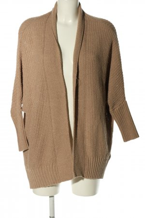 Hallhuber Cardigan en crochet brun style décontracté