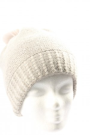 Hallhuber Crochet Cap natural white casual look