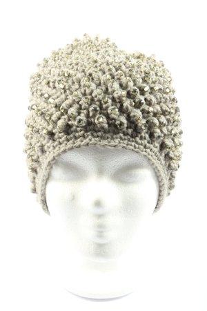 Hallhuber Cappello all'uncinetto grigio chiaro stile casual