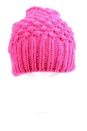 Hallhuber Cappello all'uncinetto rosa stile casual