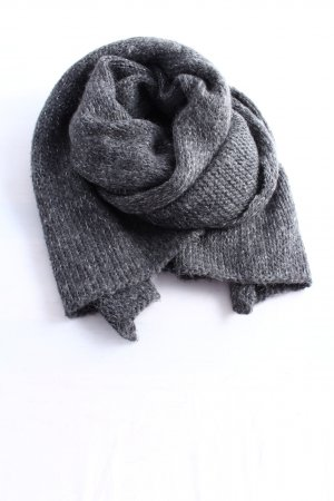 Hallhuber Gehaakte sjaal lichtgrijs gestippeld casual uitstraling