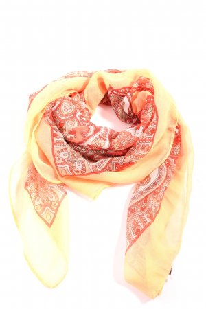 Hallhuber Neckerchief red-cream mixed pattern casual look