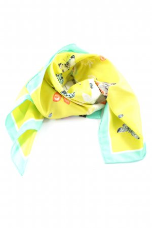 Hallhuber Neckerchief primrose-turquoise themed print casual look
