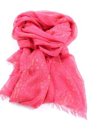 Hallhuber Halstuch pink-blassgelb Allover-Druck Casual-Look