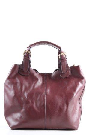Hallhuber Handtasche rot-goldfarben Casual-Look