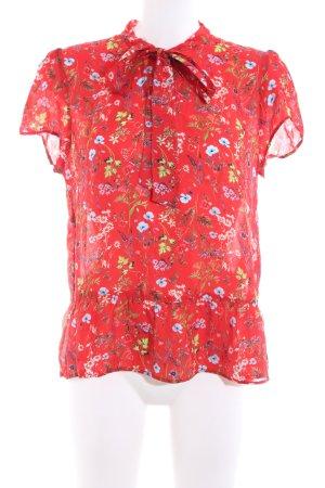 Hallhuber Hawaii-shirt rood Edelsteen versieringen