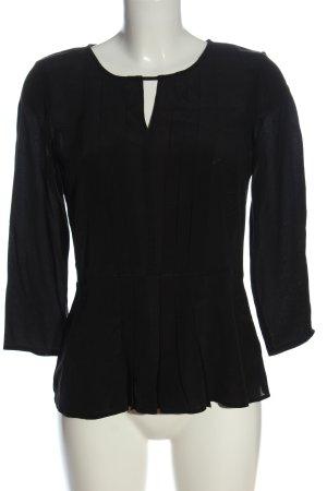 Hallhuber Blusa-camisa negro look casual