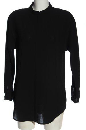 Hallhuber Hemd-Bluse schwarz Casual-Look
