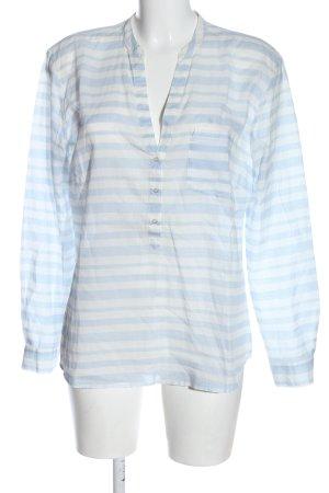 Hallhuber Hemd-Bluse blau-weiß Streifenmuster Casual-Look