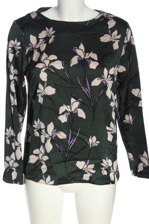Hallhuber Hemd-Bluse Blumenmuster Business-Look