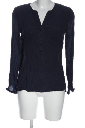 Hallhuber Hemd-Bluse blau Elegant