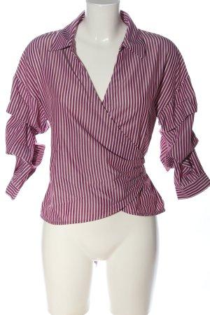 Hallhuber Hemd-Bluse braun-weiß Streifenmuster Casual-Look