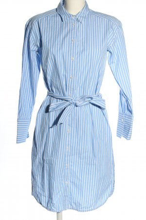 Hallhuber Shirtwaist dress blue-white striped pattern casual look