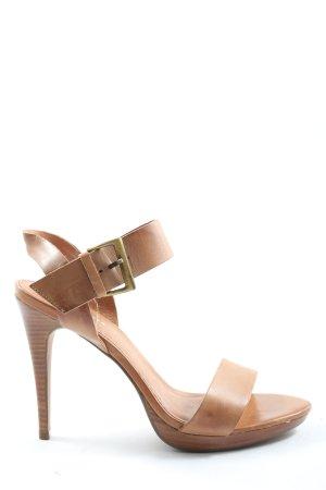 Hallhuber High Heel Sandaletten braun Elegant