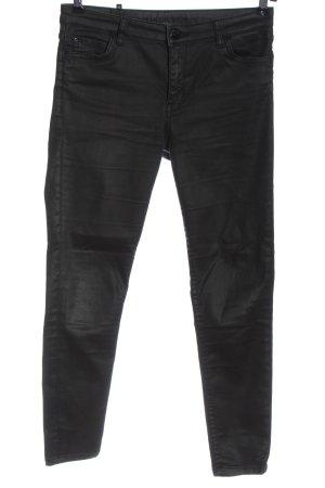 Hallhuber Jeans taille haute noir style décontracté