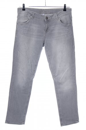 Hallhuber Hoge taille jeans lichtgrijs casual uitstraling