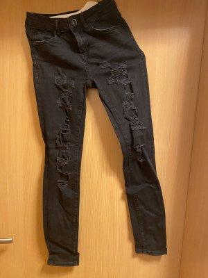 Hallhuber High Waist Jeans zerrissen in Größe 34