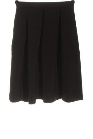 Hallhuber Spódnica z wysokim stanem czarny W stylu biznesowym
