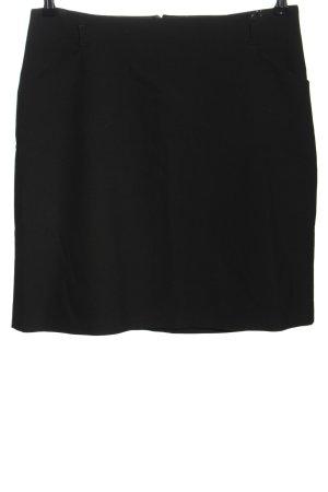 Hallhuber Falda de talle alto negro estilo «business»