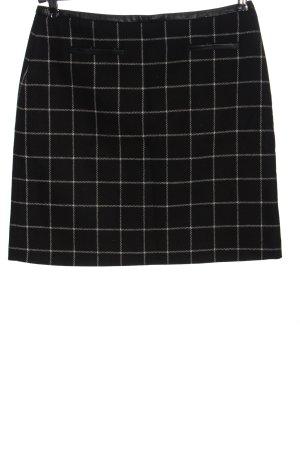 Hallhuber High Waist Skirt black check pattern casual look