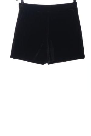 Hallhuber Short taille haute noir style décontracté