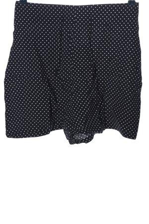 Hallhuber High-Waist-Shorts blau-weiß Punktemuster Casual-Look