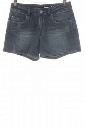 Hallhuber High-Waist-Shorts stahlblau Casual-Look