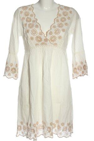 Hallhuber Vestido Hippie blanco-crema look casual