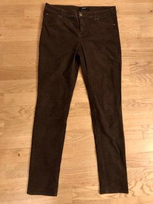 Hallhuber Corduroy Trousers dark brown