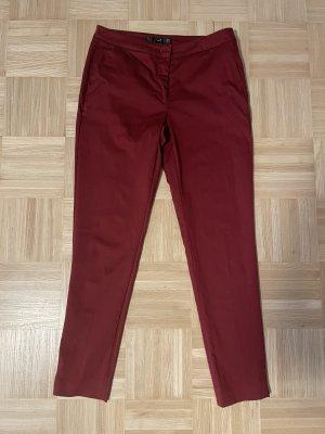 Hallhuber Pantalone jersey carminio-rosso