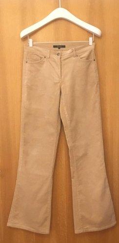 Hallhuber Pantalon en velours côtelé crème-beige