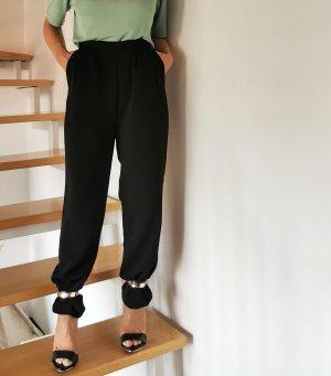 Hallhuber Pantalone a pieghe nero