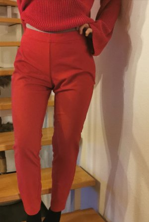 Hallhuber Pantalone a pieghe rosso