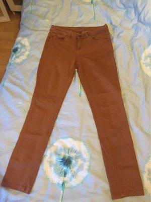 Hallhuber pantalón de cintura baja bermejo-naranja oscuro