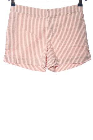 Hallhuber Hot Pants pink-wollweiß Streifenmuster Casual-Look