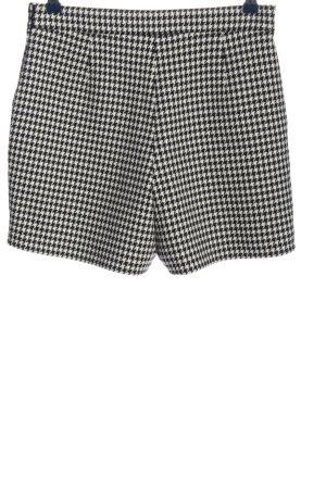 Hallhuber Hot Pants schwarz-weiß Allover-Druck Casual-Look