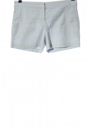 Hallhuber Hot Pants blau-weiß Streifenmuster Casual-Look