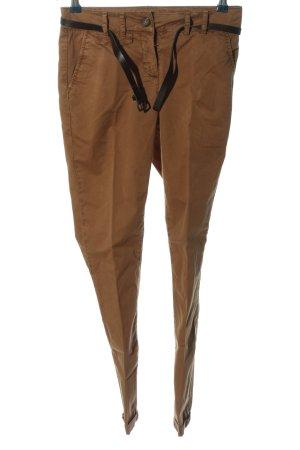 Hallhuber Spodnie biodrówki brązowy W stylu casual