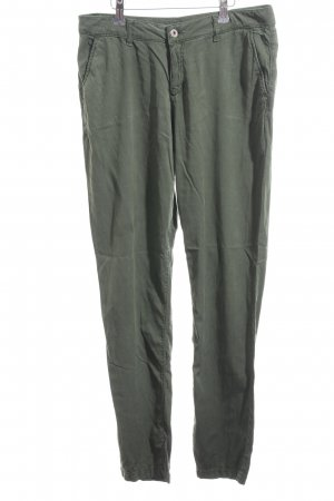 Hallhuber Low-Rise Trousers forest green casual look