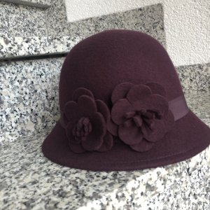 Hallhuber Chapeau en laine multicolore