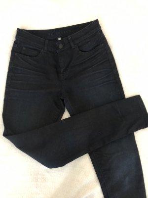 Hallhuber Hoge taille jeans donkerblauw