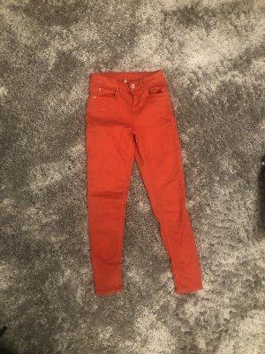 Hallhuber Drainpipe Trousers neon orange