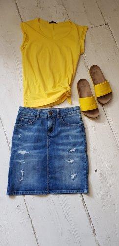 Hallhuber Gonna di jeans multicolore