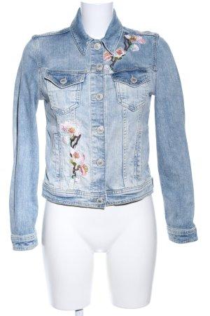 Hallhuber Jeansjacke blau Farbverlauf Casual-Look