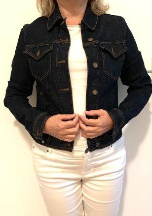 Hallhuber Veste en jean bleu foncé jean