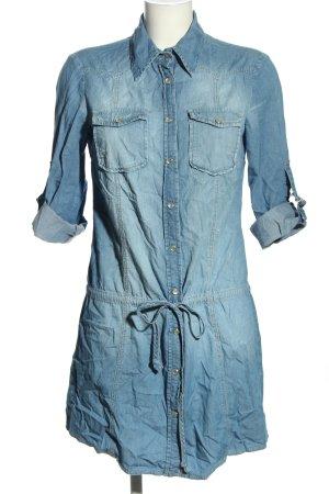 Hallhuber Robe en jean bleu style décontracté